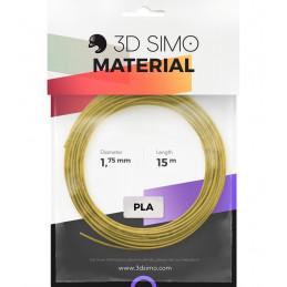 3Dsimo PLA 1 schwarz, gold & grau