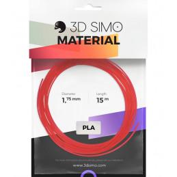 3Dsimo PLA Transparent blau, rot & weiß