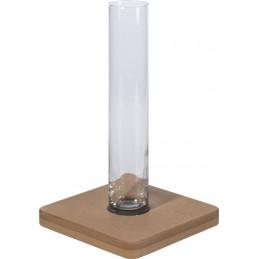 Glaszylinder mit Tischbefestigung