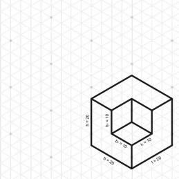 Skizzenblätter Dimetrie DIN A4